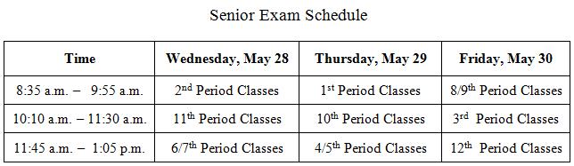 Senior Exams